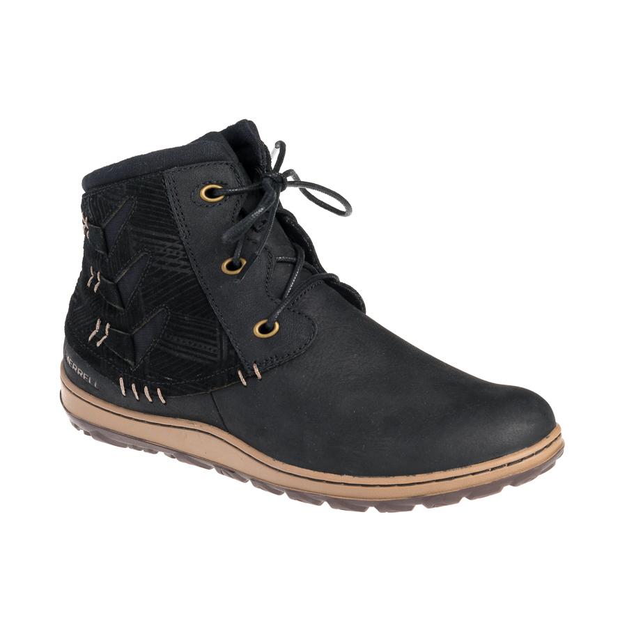 Tamaris støvle med hæl i sort skind til damer By Hein