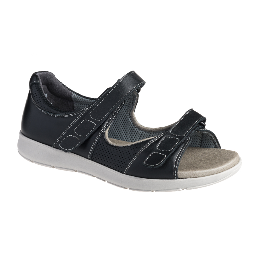 51cbd4135df5 Sort New Feet damesandal - med lukket hælkappe - By Hein Shoes