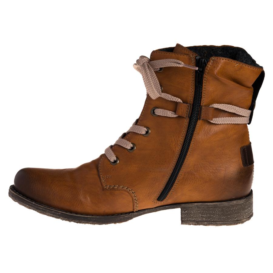 Rieker støvle til damer i brunt kunstskind 70820 24 By