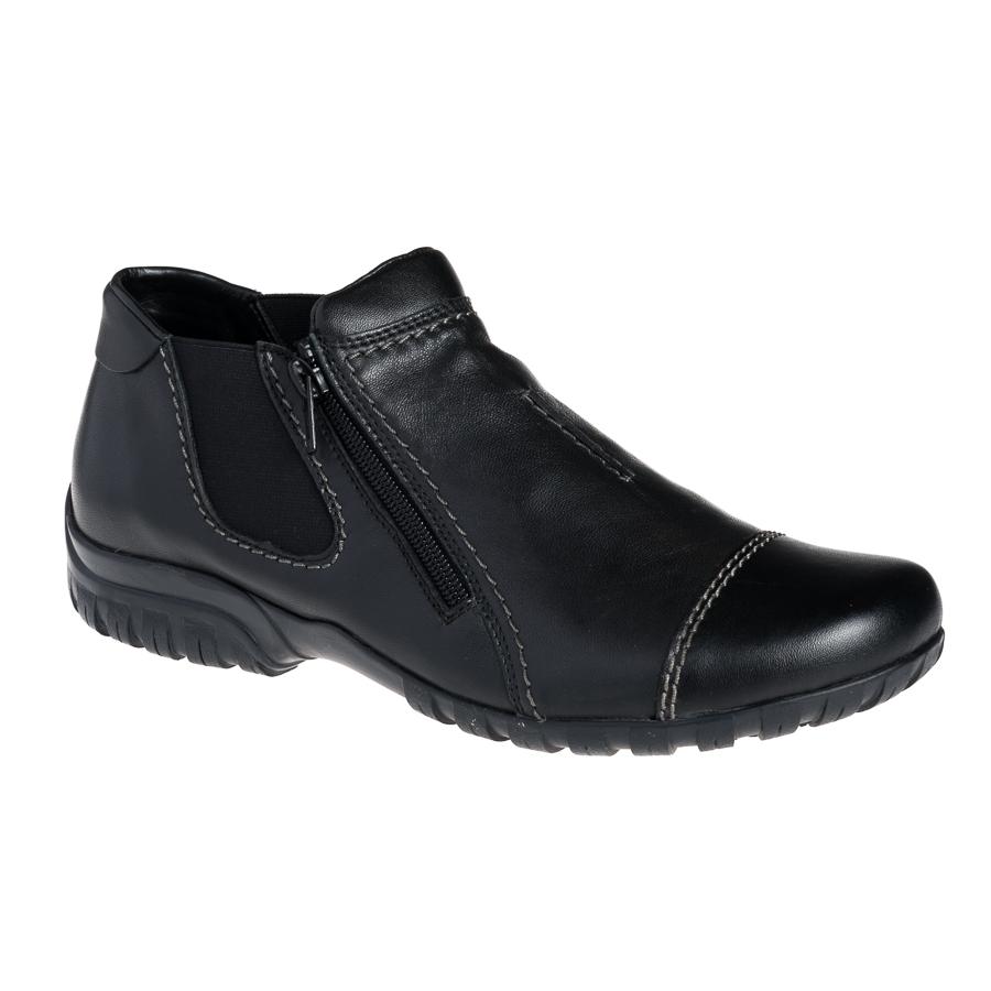 Damesko i sort skind fra Rieker L4652 00 By Hein Shoes