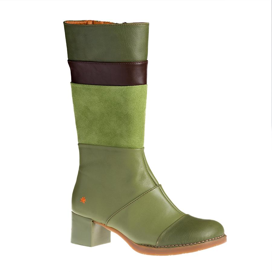 b867c6fa878 Art Memphis Kaki Bristol høj grøn dame støvle - By Hein Shoes