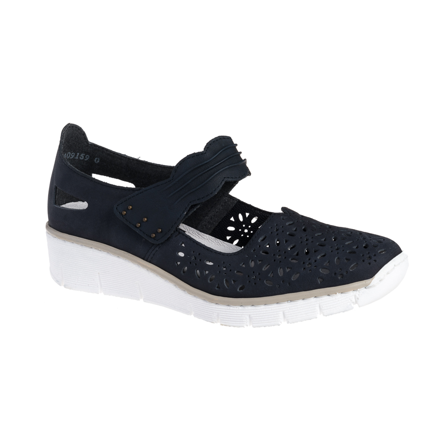 2f0f9c8421ed Rieker damesko i mørkeblå med velcrorem 537G7-14 - By Hein Shoes