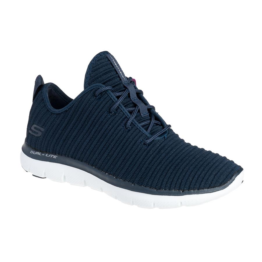 Skechers Flex Appeal 2.0 dame sneaker i blå. 12899NVY By