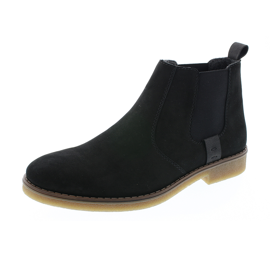 Rieker chelsea støvle i sort ruskind 33853 00 By Hein Shoes