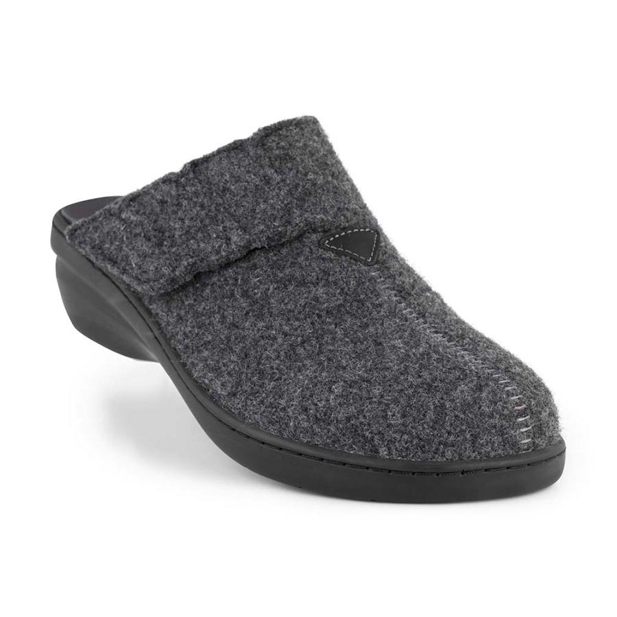 c7e75c5b6628 New Feet hjemmesko uden hælkappe i antracit 172-51-911 - By Hein Shoes