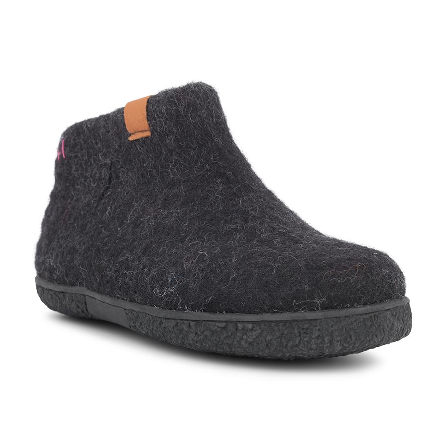 4c7d9b2b614 Green Comfort uldstøvlet i sort til damer 17282 - By Hein Shoes
