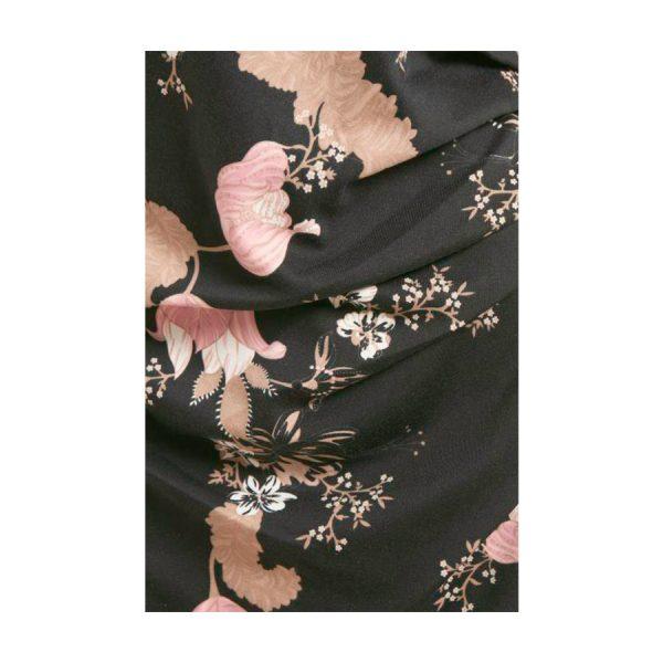 Rigtig fin Kaffe Kamajo Dress, sort m. blomster.