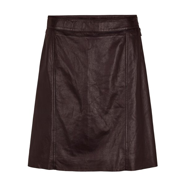 Second Female Pale HW Leather Skirt.