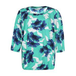 a532947f Zhenzi Bovist bluse i en fin blå/grøn farve.