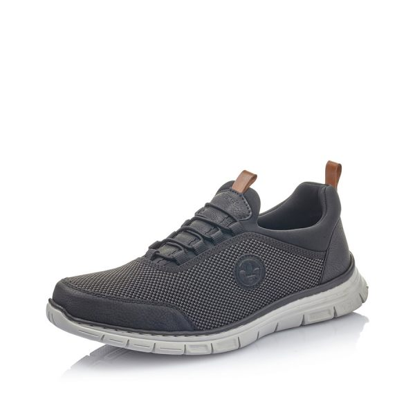 Super komfortabel sort Rieker herresneakers B4891-00.