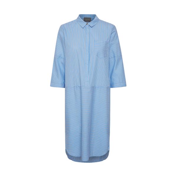 Culture Cusarsa Shirt Dress - skøn kjole med striber i en lys blå farve
