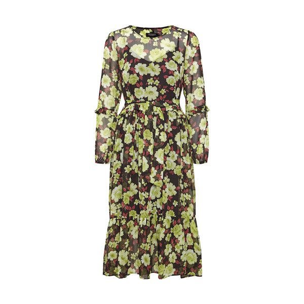 Soaked in Luxury Carlie Dress - skøn kjole fra Soaked med løst bælte.