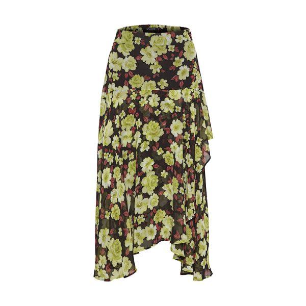 Soaked in Luxury Carlie Skirt - super flot og let nederdel med flæser.
