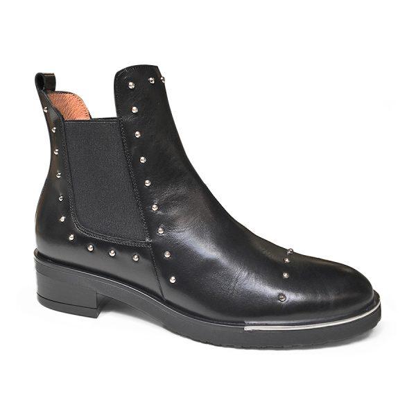 Wonders Oregon Negro - klassisk Chelsea støvle med elastik i begge sider.