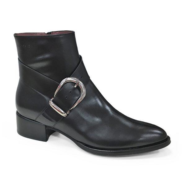 Wonders Oregon Negro. En lækker skindstøvle i sort.