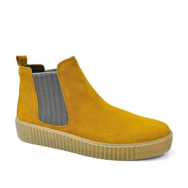 Gabor ankelstøvle i en lækker gul ruskindskvalitet