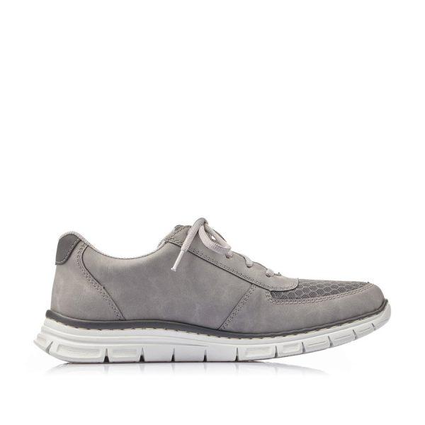 Rigtig fin og praktisk Rieker sneaker B4842-42 til herre i grå.