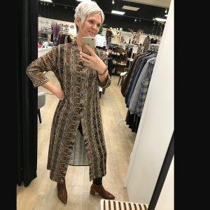 Mongul Sigrid dress 100229-01800 Orange Ethnic