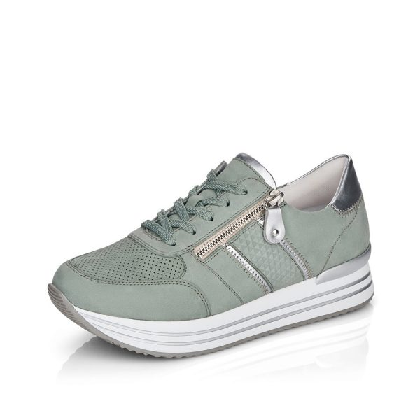 Remonte dame sneakers D1310-52 Grøn combi