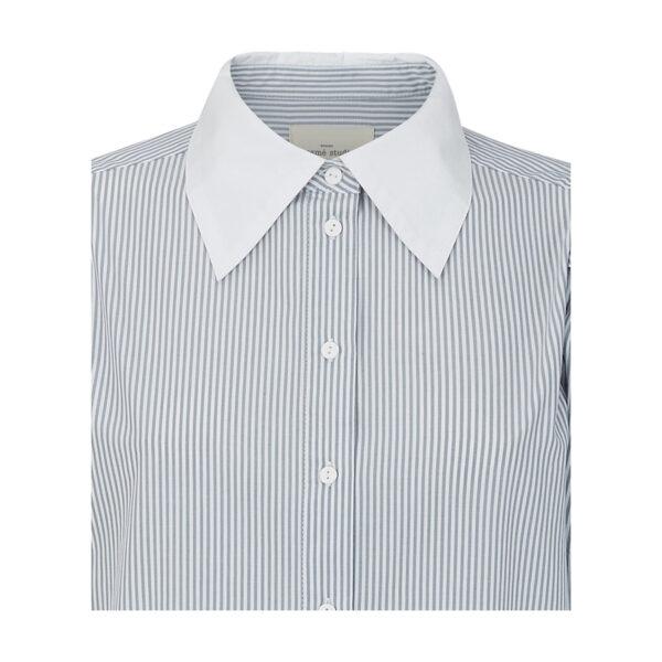 Esmé Studios ESCalla LS Long Shirt Dress ES1435 094 Stripe Tradewind Comb